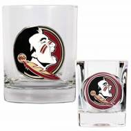 Florida State Seminoles Rocks Glass & Shot Glass Set
