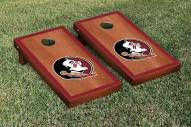 Florida State Seminoles Rosewood Stained Border Cornhole Game Set