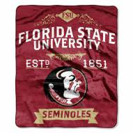 Florida State Seminoles School Spirit Raschel Throw Blanket