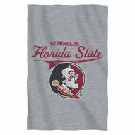 Florida State Seminoles Script Sweatshirt Throw Blanket