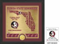 Florida State Seminoles State Bronze Coin Photo Mint