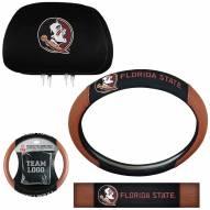Florida State Seminoles Steering Wheel & Headrest Cover Set