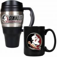Florida State Seminoles Travel Mug & Coffee Mug Set
