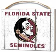 Florida State Seminoles Weathered Logo Small Plaque