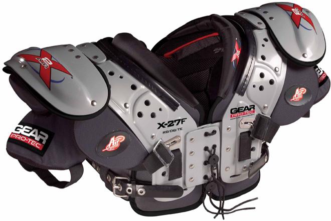 Gear Pro-Tec X2 Air X-27F Adult Football Shoulder Pads - RB / LB / DB / TE
