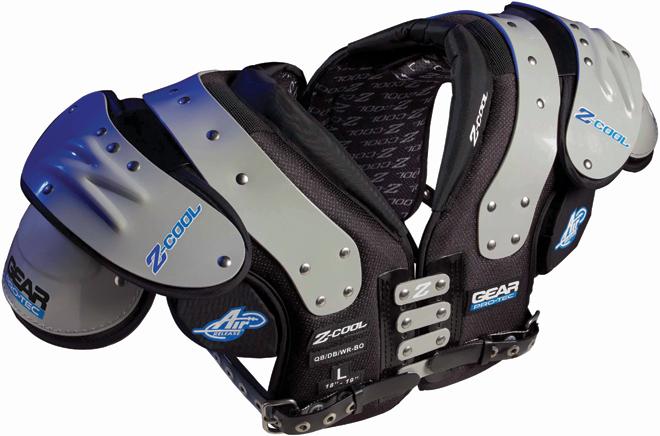 Gear Pro-Tec Z-Cool Adult Football Shoulder Pads - QB / WR / DB