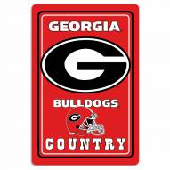 "Georgia Bulldogs 12"" x 18"" Metal Sign"