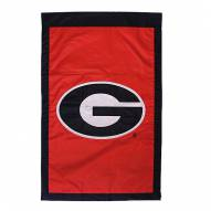 "Georgia Bulldogs Red 28"" x 44"" Double Sided Applique Flag"