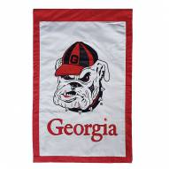 "Georgia Bulldogs 28"" x 44"" Double Sided Applique Flag"