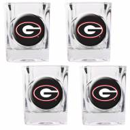 Georgia Bulldogs 4 Piece Square Shot Glasses