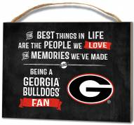 Georgia Bulldogs Best Things Small Plaque