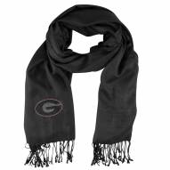Georgia Bulldogs Black Pashi Fan Scarf