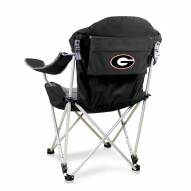 Georgia Bulldogs Black Reclining Camp Chair