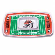 Georgia Bulldogs Chip & Dip Tray