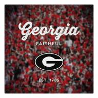 Georgia Bulldogs Canvas Logo Art