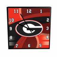 Georgia Bulldogs Carbon Fiber Square Clock
