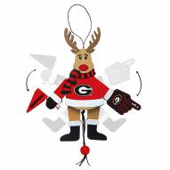 Georgia Bulldogs Cheering Reindeer Ornament