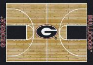 Georgia Bulldogs College Home Court Area Rug