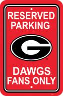 Georgia Bulldogs College Parking Sign
