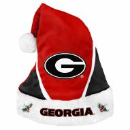 Georgia Bulldogs Colorblock Santa Hat