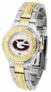 Georgia Bulldogs Competitor Two-Tone Women's Watch