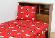 Georgia Bulldogs Dark Bed Sheets