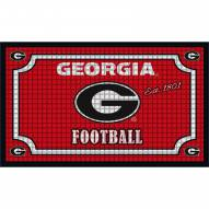 Georgia Bulldogs Embossed Door Mat