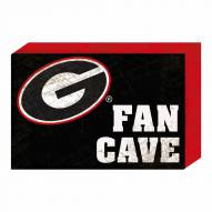 Georgia Bulldogs Fan Cave Wooden Plock