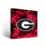 Georgia Bulldogs Fight Song Canvas Wall Art