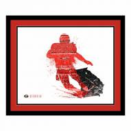 Georgia Bulldogs Framed Silhouette Art