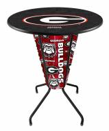 Georgia Bulldogs Indoor/Outdoor Lighted Pub Table