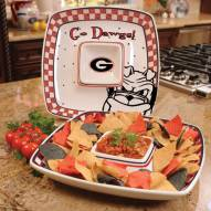 Georgia Bulldogs Gameday Chip N Dip Dish