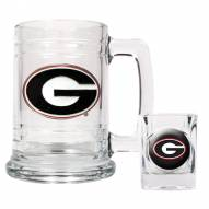 Georgia Bulldogs Glass Mug & Shot Glass Set
