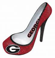 Georgia Bulldogs Glitter Shoe Bottle Holder