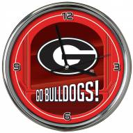 Georgia Bulldogs Go Team Chrome Clock