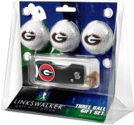 Georgia Bulldogs Golf Ball Gift Pack with Spring Action Divot Tool