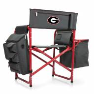 Georgia Bulldogs Gray/Red Fusion Folding Chair