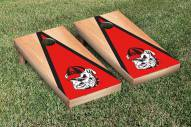 Georgia Bulldogs Hardcourt Triangle Cornhole Game Set