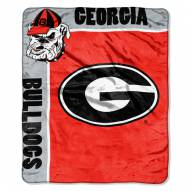 Georgia Bulldogs Jersey Mesh Raschel Throw Blanket
