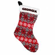 Georgia Bulldogs Knit Christmas Stocking