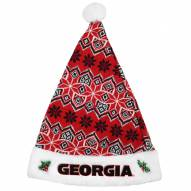 Georgia Bulldogs Knit Santa Hat
