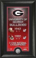 Georgia Bulldogs Legacy Supreme Minted Coin Panoramic Photo Mint