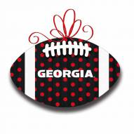 Georgia Bulldogs Metal Football Door Decor