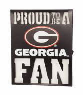 Georgia Bulldogs Metal LED Wall Sign