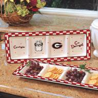 Georgia Bulldogs NCAA Ceramic Relish Tray