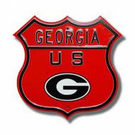 Georgia Bulldogs NCAA Embossed Route Sign