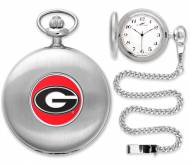 Georgia Bulldogs Pocket Watch - Silver