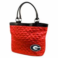 Georgia Bulldogs Quilted Tote Bag