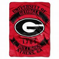 Georgia Bulldogs Rebel Raschel Throw Blanket