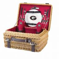 Georgia Bulldogs Red Champion Picnic Basket